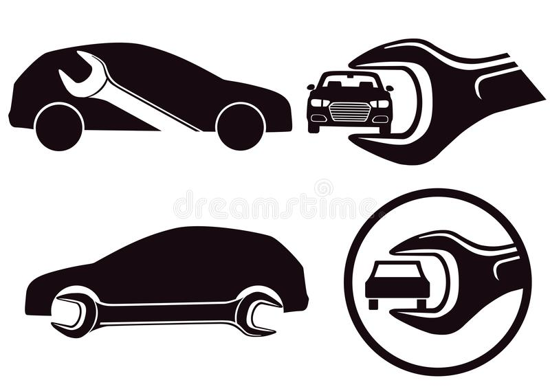 Auto-Reparatur-Ikonen vektor abbildung