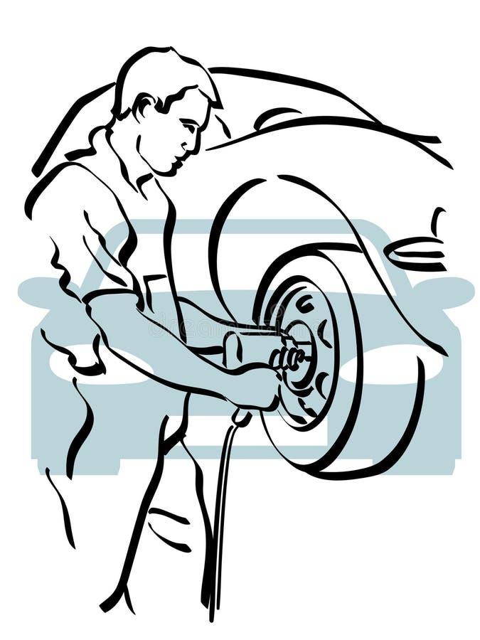 Auto reparo ilustração royalty free