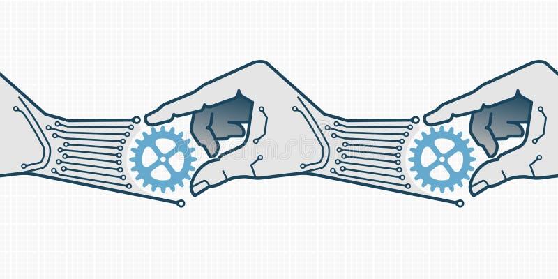 Auto-replicação ilustração royalty free