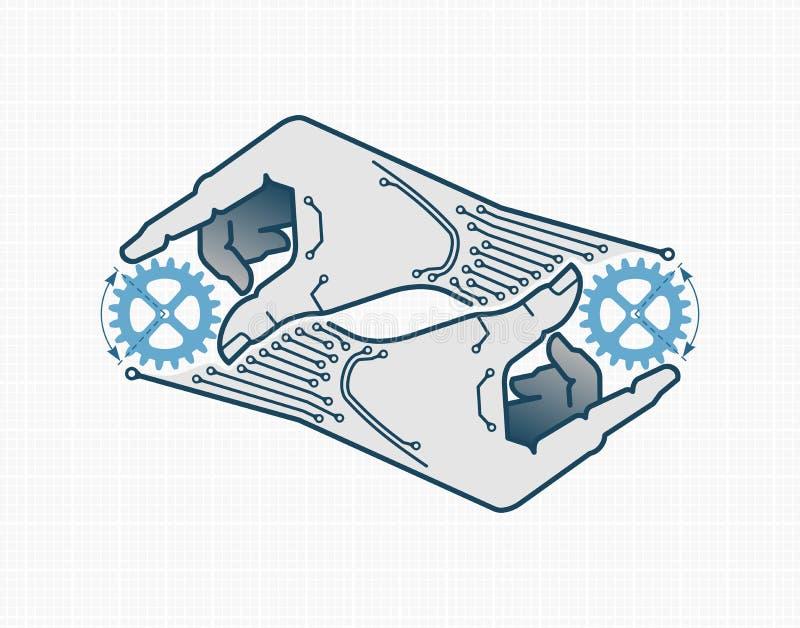 Auto-reproduction illustration stock