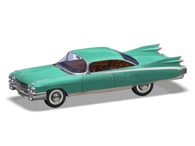 Auto retro royalty-vrije illustratie