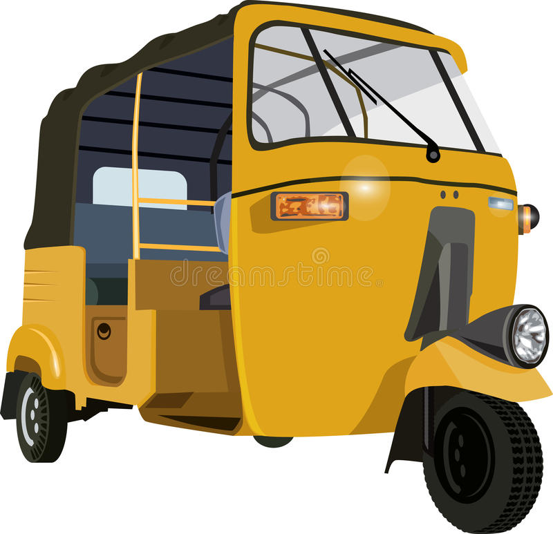 Auto Rickshaw. S are a common means of public transportation in many countries in the world royalty free illustration