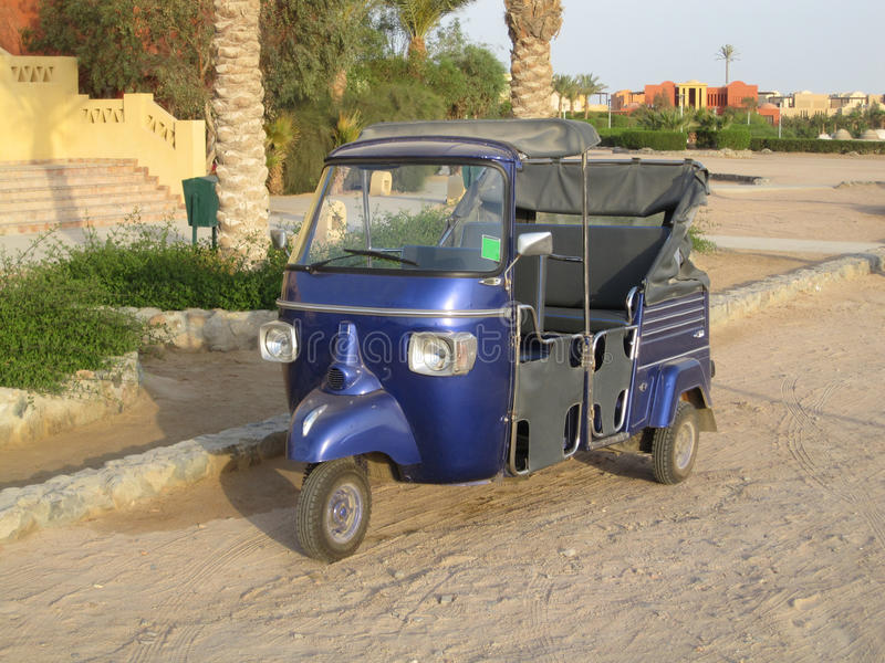 Auto Rickshaw. S are a common means of public transportation in many countries in the world. Also known as a three-wheeler, Samosa, tempo, tuk-tuk, trishaw royalty free stock photography