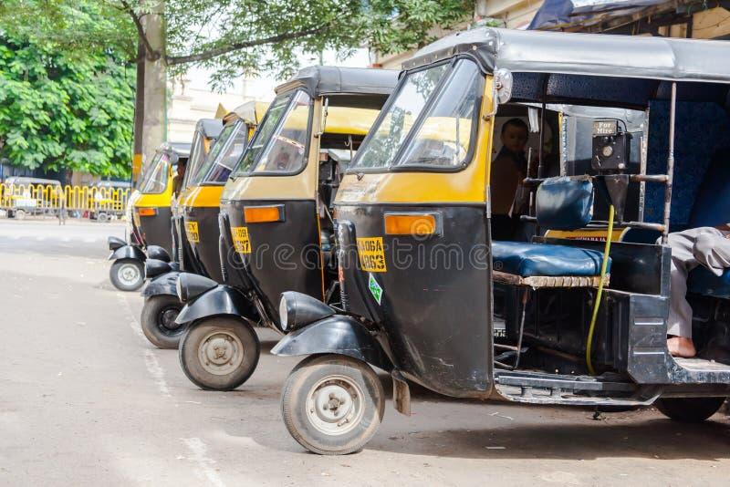 Auto Rickshaws stock image