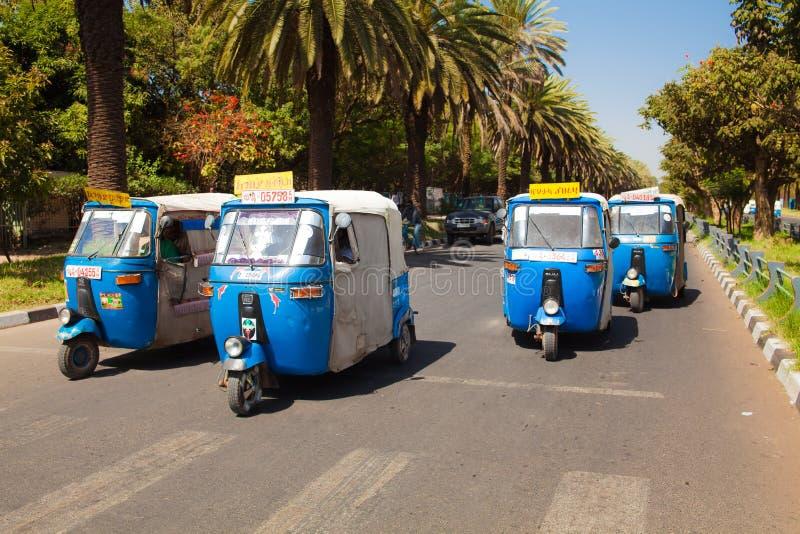 Auto rickshawtaxi på Bahir Dar i Etiopien fotografering för bildbyråer