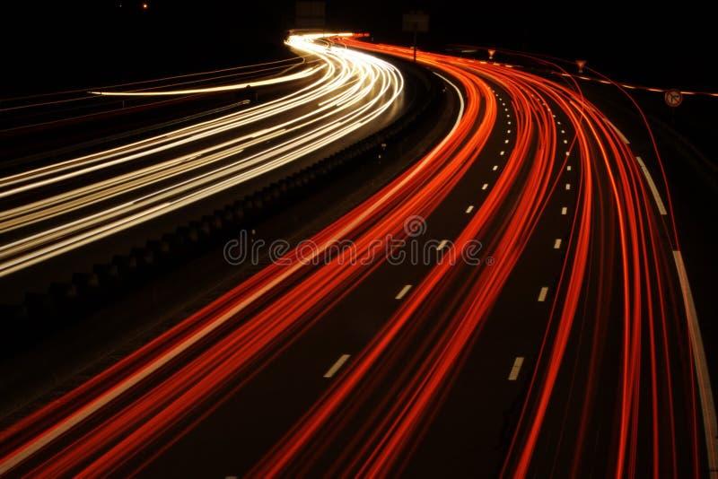 Auto's in het spitsuur stock foto's