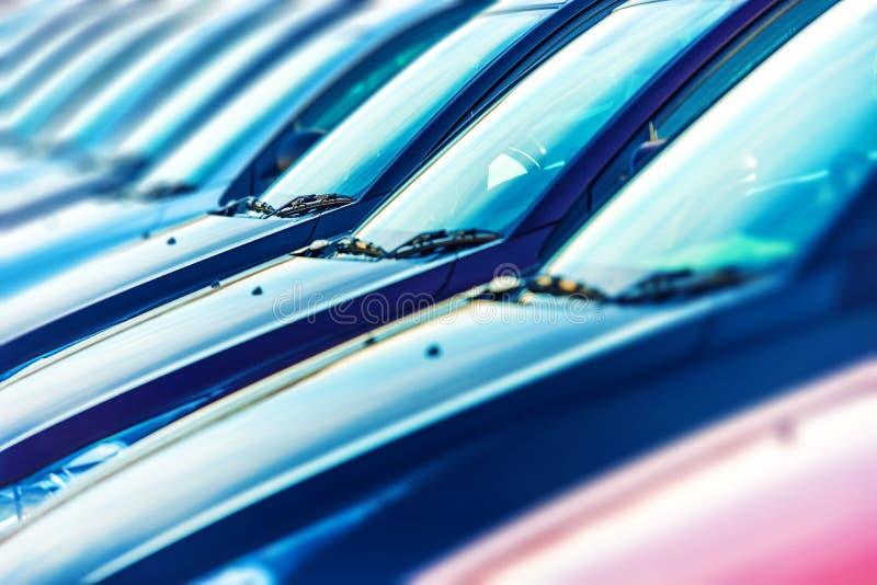 Auto's Klaar voor Verkoop stock afbeelding