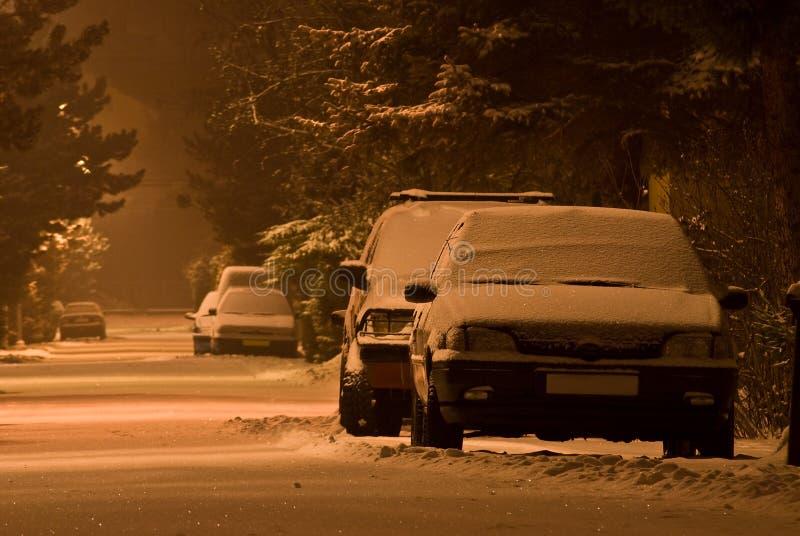 Auto's onder sneeuw royalty-vrije stock foto
