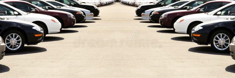 Auto's op de Partij van de Auto stock foto