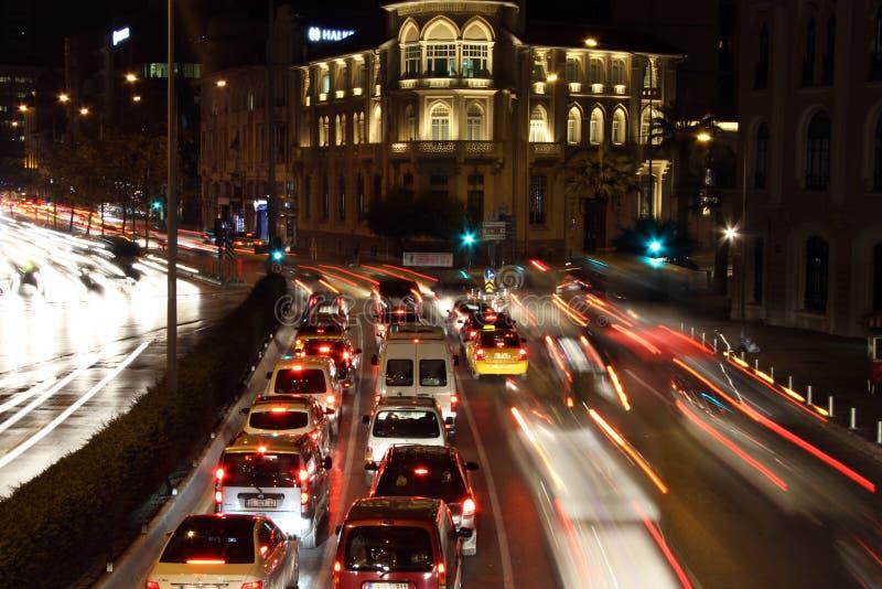 Auto's op de straat in Izmir royalty-vrije stock foto