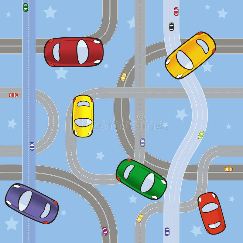 Auto's op wegen royalty-vrije stock afbeelding