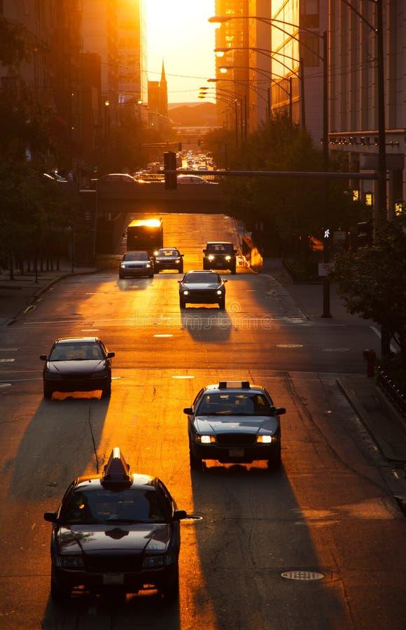 Auto's in stad royalty-vrije stock fotografie