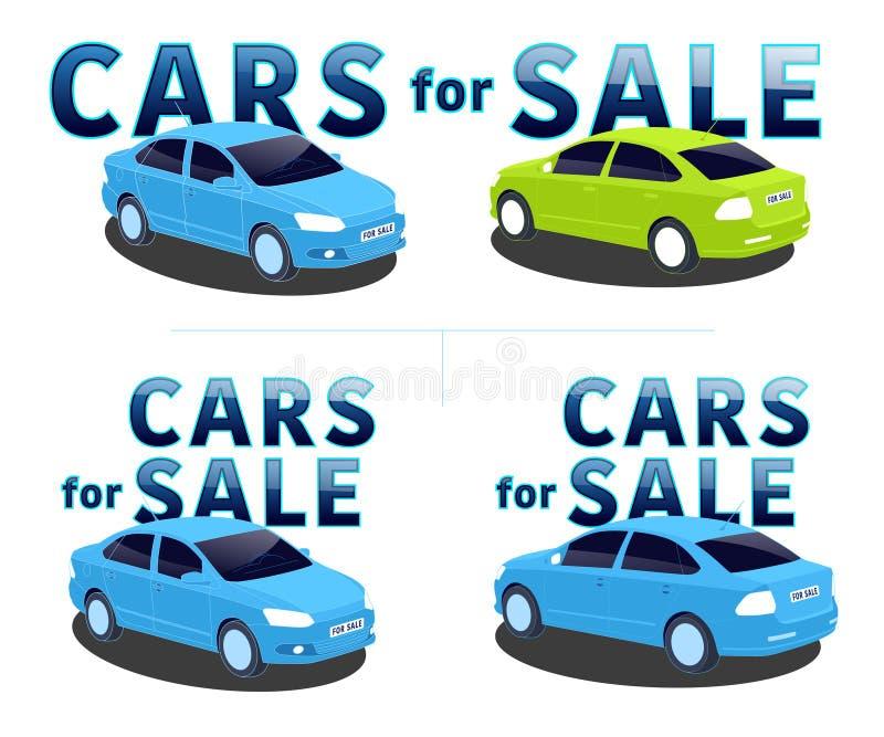 Auto's voor verkoop stock illustratie