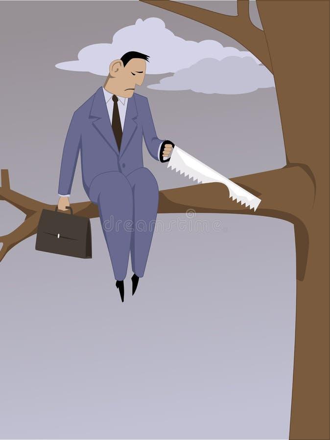 Auto-sabotaggio royalty illustrazione gratis