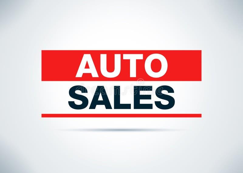 Auto Sales Abstract Flat Background Design Illustration stock illustration