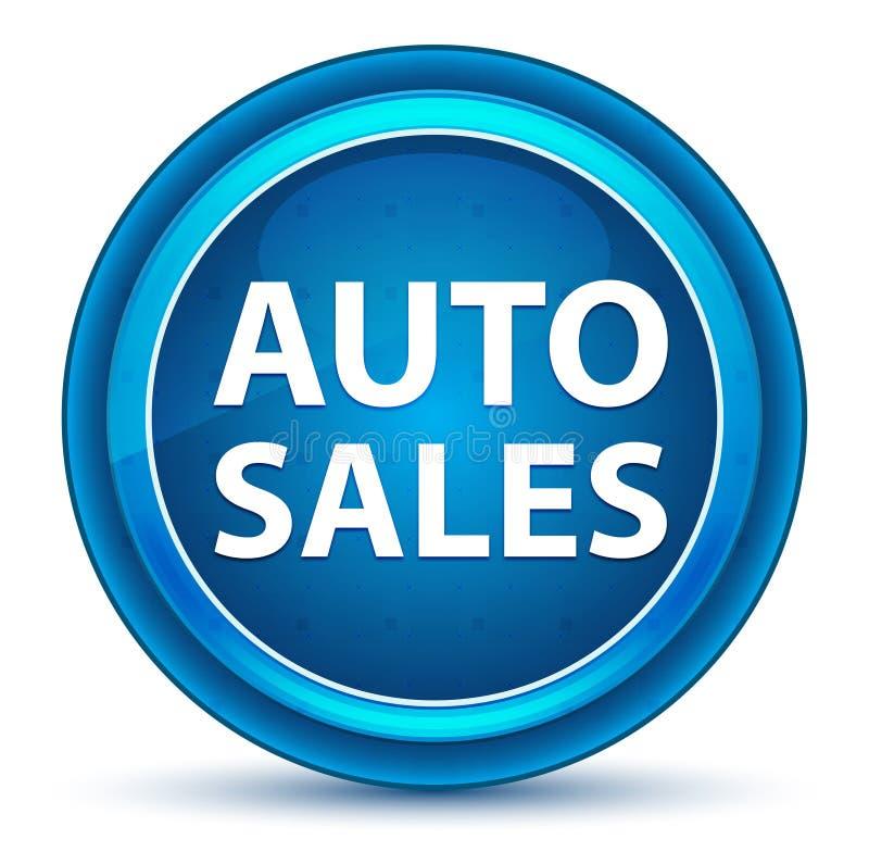 Auto Sales Eyeball Blue Round Button vector illustration