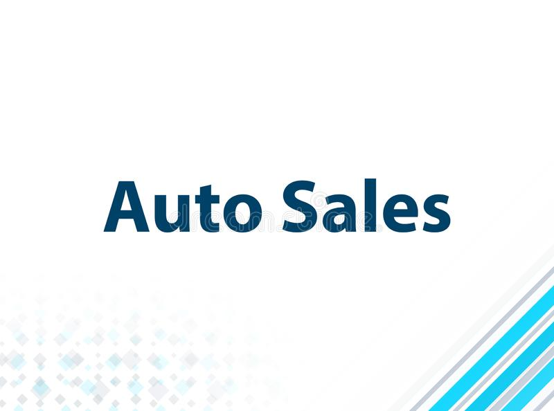 Auto Sales Modern Flat Design Blue Abstract Background royalty free illustration