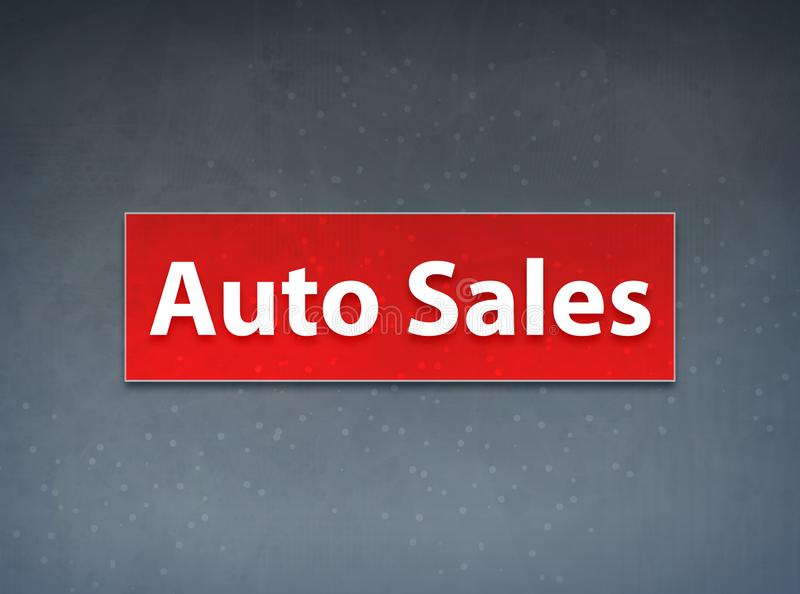 Auto Sales Red Banner Abstract Background stock illustration