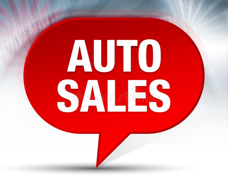 Auto Sales Red Bubble Background stock illustration