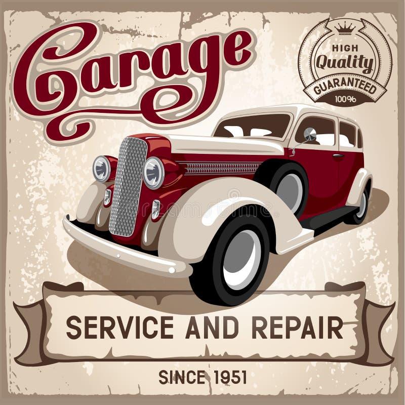 Auto serviço ilustração stock