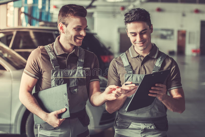 At the auto service royalty free stock photography