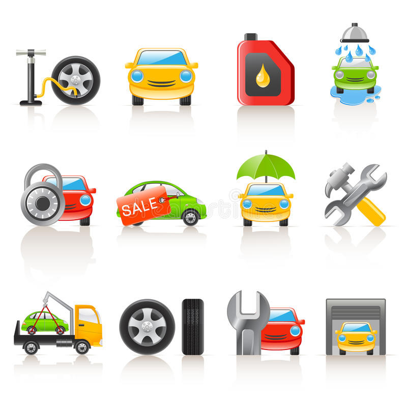 Download Auto service icons stock vector. Illustration of spare - 13643872