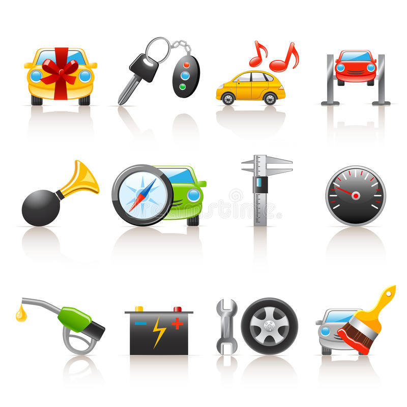 Free Auto Service Icons Stock Photography - 13643882