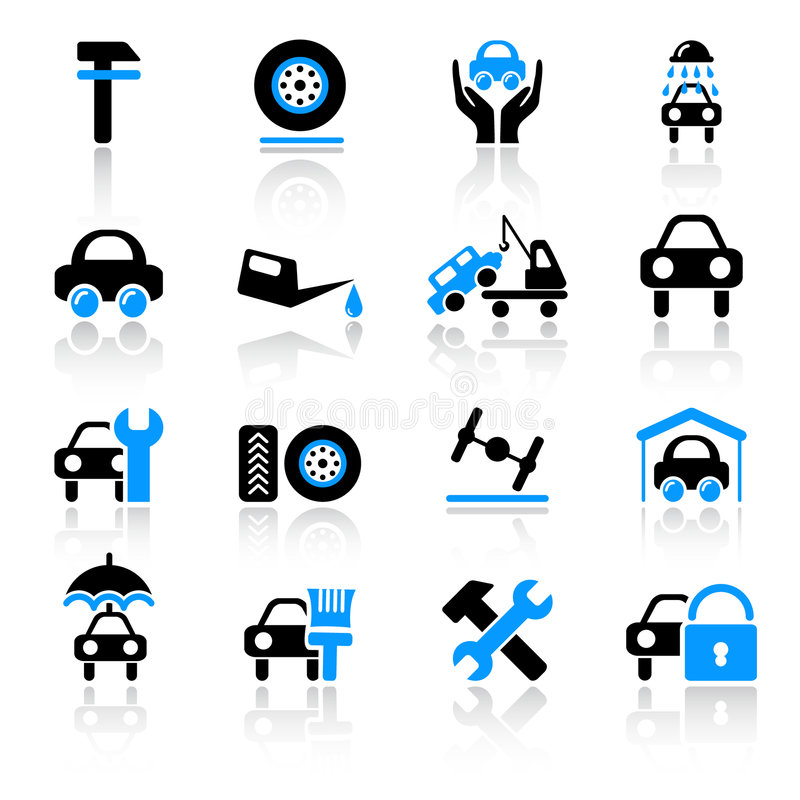 Download Auto service icons stock vector. Image of transport, vehicle - 8690154