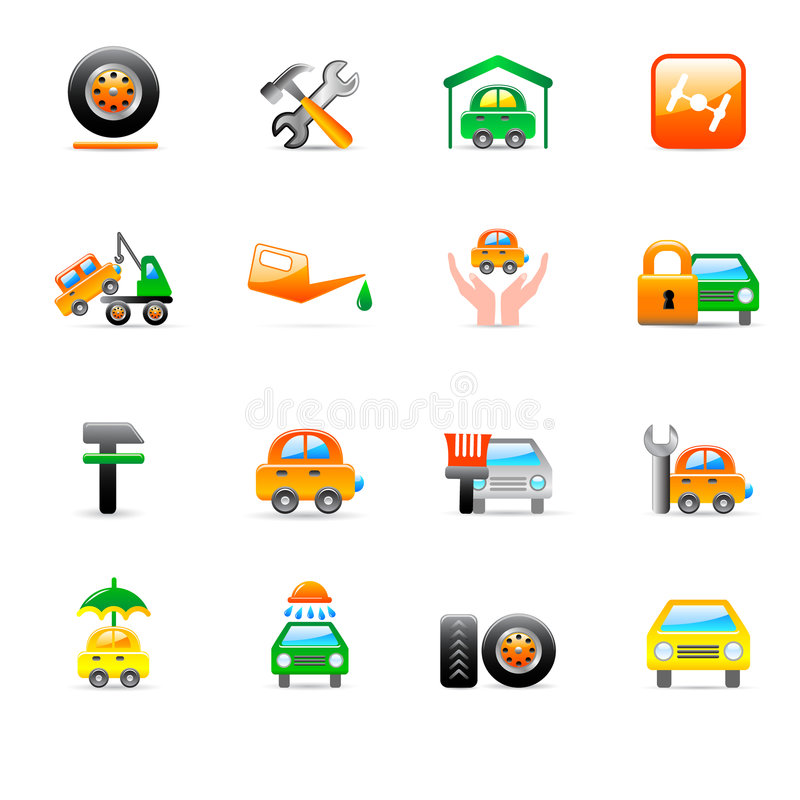Download Auto service icons stock vector. Illustration of service - 8690239