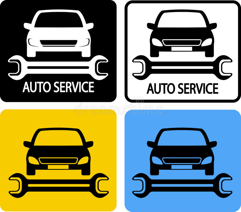 Download Auto service icons set stock vector. Image of smash, fast - 29680498