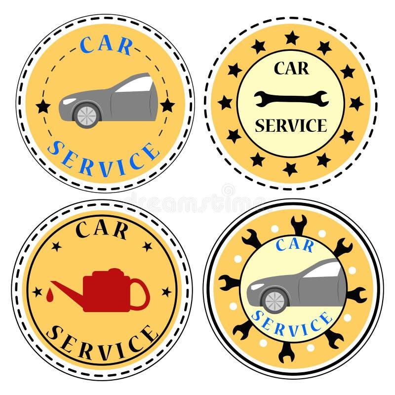 Auto-Service-Ikonen-Satz vektor abbildung