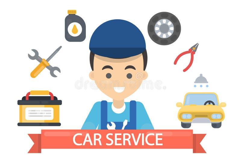 Auto-Service-Illustration stock abbildung