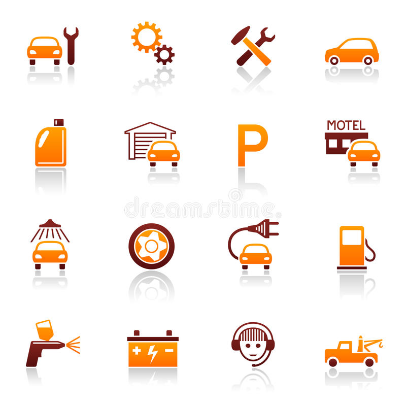 Free Auto Service & Repair Icons Royalty Free Stock Photo - 13714555