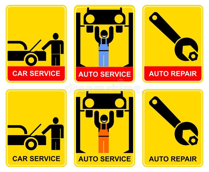 Auto service - sign vector illustration
