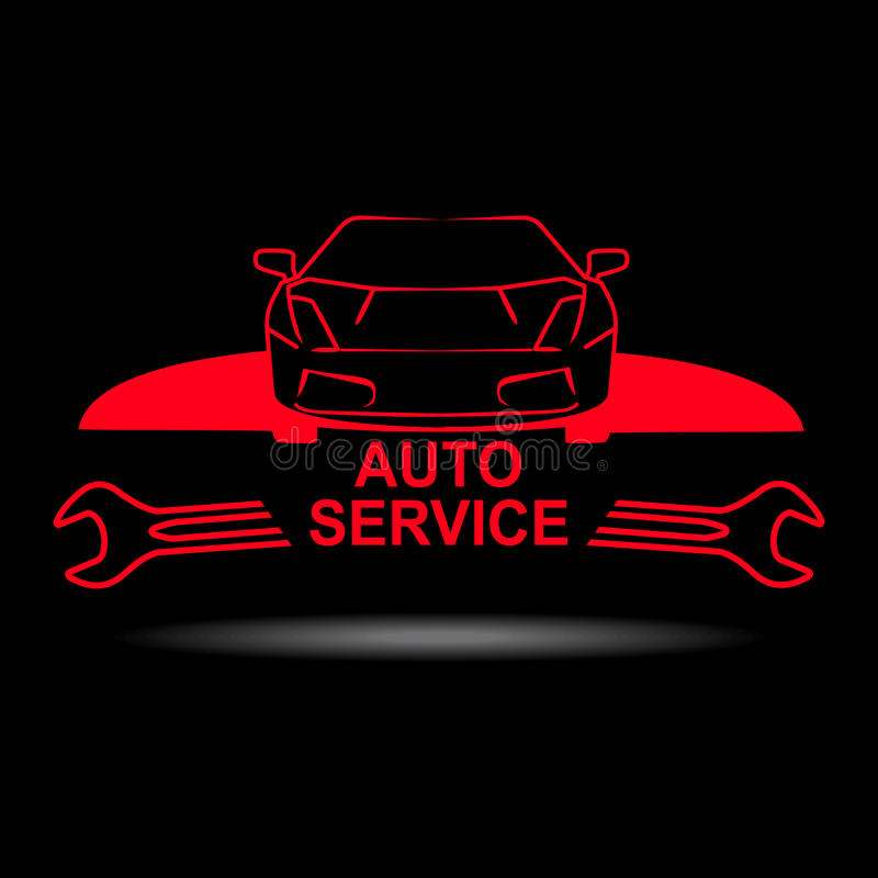Auto service sign royalty free illustration