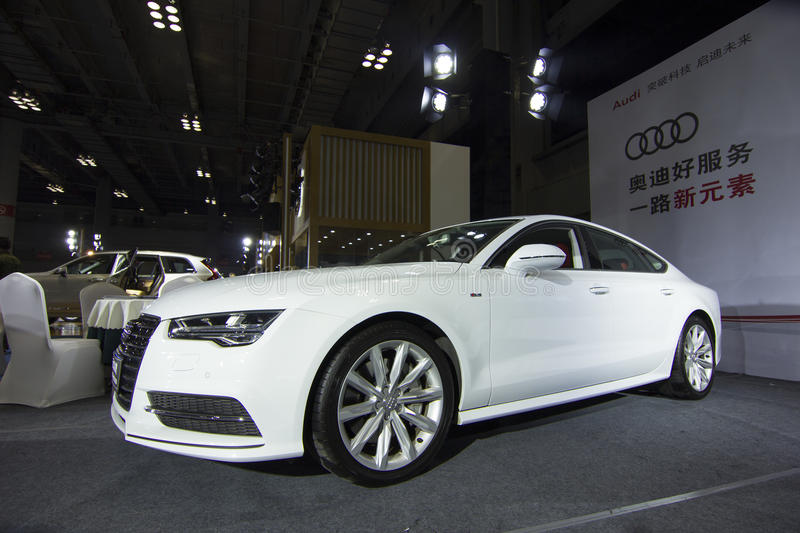 Auto show — Audi A7. The 2017 Chongqing lnternational Auto Consumption Exhibition.Audi A7. Photo taken April 10, 2017, in Chongqing, china royalty free stock images