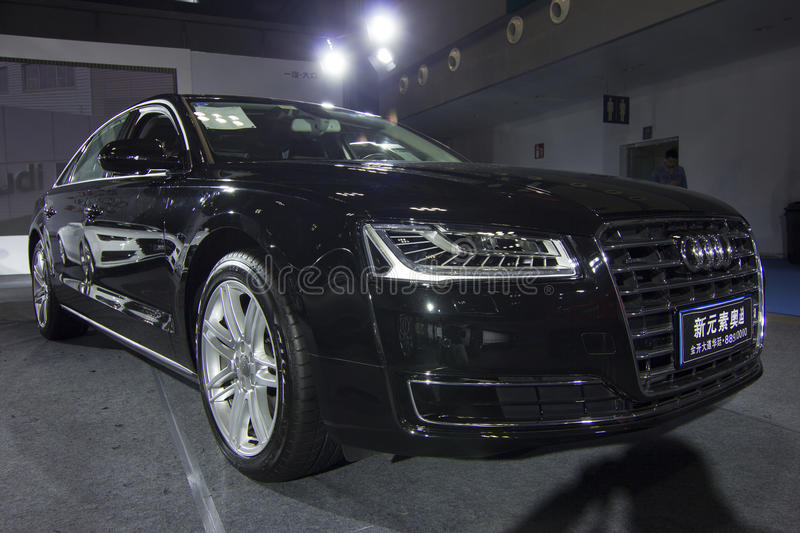 Auto show — Audi A8L. The 2017 Chongqing lnternational Auto Consumption Exhibition.Audi A8L. Photo taken April 10, 2017, in Chongqing, china stock photography