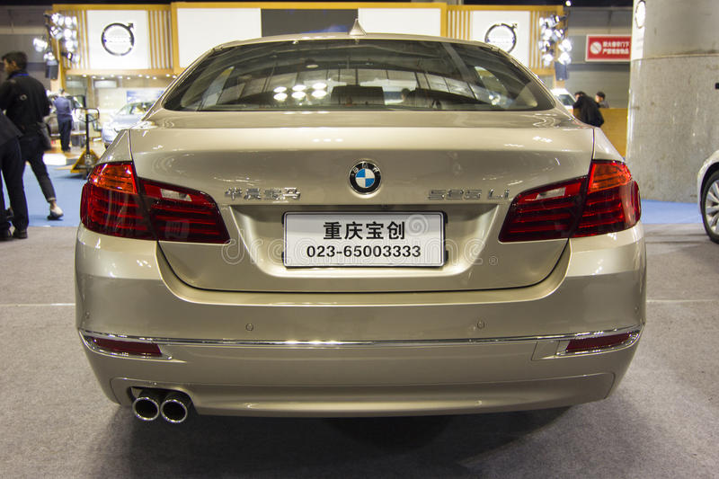 Auto show — BMW car back. The 2017 Chongqing lnternational Auto Consumption Exhibition.BMW car back close-up. Photo taken April 10, 2017, in Chongqing stock photography