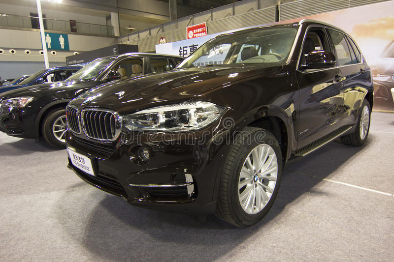 Auto show — BMW X5. The 2017 Chongqing lnternational Auto Consumption Exhibition. Photo taken April 10, 2017, in Chongqing, china royalty free stock image