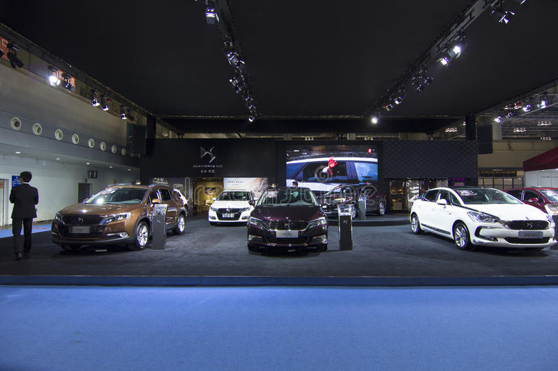 Auto show — DS AUTOMOBILES. The 2017 Chongqing lnternational Auto Consumption Exhibition. Photo taken April 10, 2017, in Chongqing, china stock images
