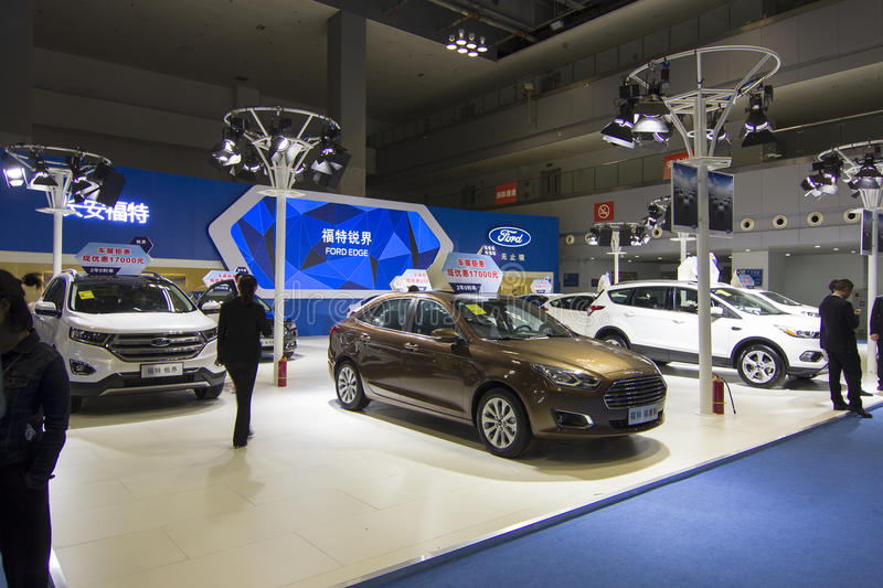 Auto show — Ford. The 2017 Chongqing lnternational Auto Consumption Exhibition. Photo taken April 10, 2017, in Chongqing, china stock image