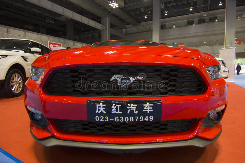 Auto show — ford mustang car front. The 2017 Chongqing lnternational Auto Consumption Exhibition.ford mustang car front close-up. Photo taken April 10 stock photos
