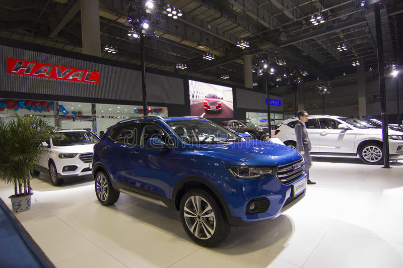 Auto show — HAVAL. The 2017 Chongqing lnternational Auto Consumption Exhibition. Photo taken April 10, 2017, in Chongqing, china stock images