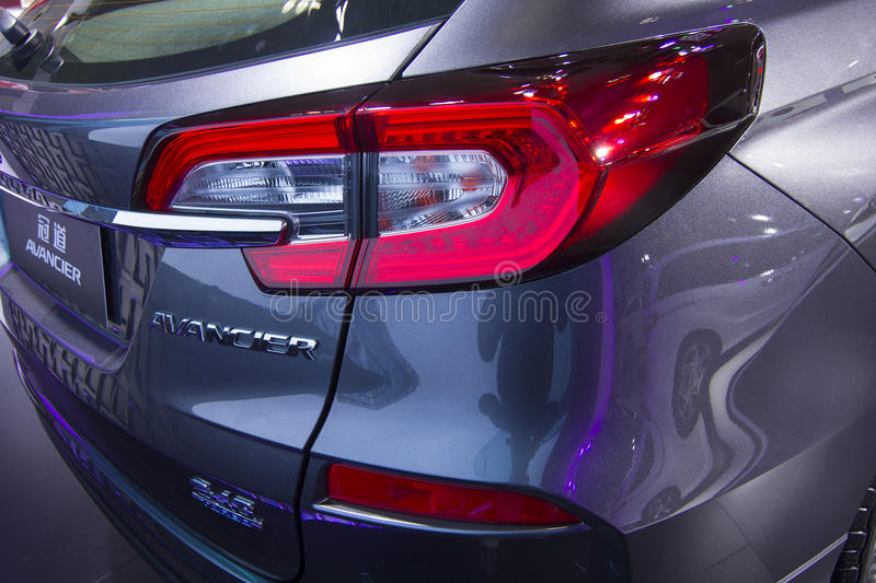 Auto show — Honda AVANCIER automobile tail light. The 2017 Chongqing lnternational Auto Consumption Exhibition.Honda AVANCIER automobile tail light close stock photos