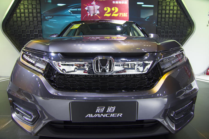Auto show — Honda AVANCIER car front. The 2017 Chongqing lnternational Auto Consumption Exhibition.Honda AVANCIER car front close-up. Photo taken April 10 royalty free stock photo