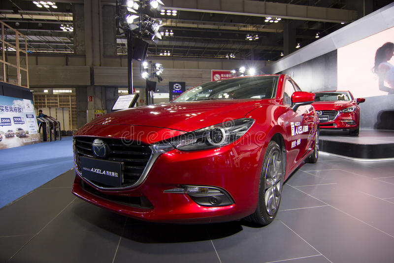 Auto show — Mazda AXELA. The 2017 Chongqing lnternational Auto Consumption Exhibition.Mazda AXELA. Photo taken April 10, 2017, in Chongqing, china stock images