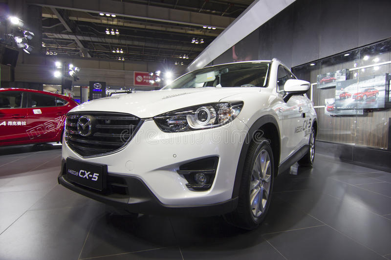 Auto show — Mazda CX—5. The 2017 Chongqing lnternational Auto Consumption Exhibition.Mazda CX—5. Photo taken April 10, 2017, in Chongqing stock image