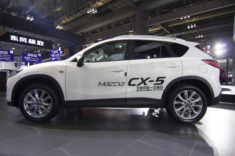 Auto show — Mazda CX—5. The 2017 Chongqing lnternational Auto Consumption Exhibition.Mazda CX—5. Photo taken April 10, 2017, in royalty free stock photos