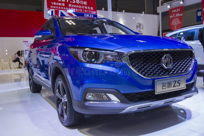 Auto show — MorrisGarages ZS. The 2017 Chongqing lnternational Auto Consumption Exhibition. Photo taken April 10, 2017, in Chongqing, china stock photos