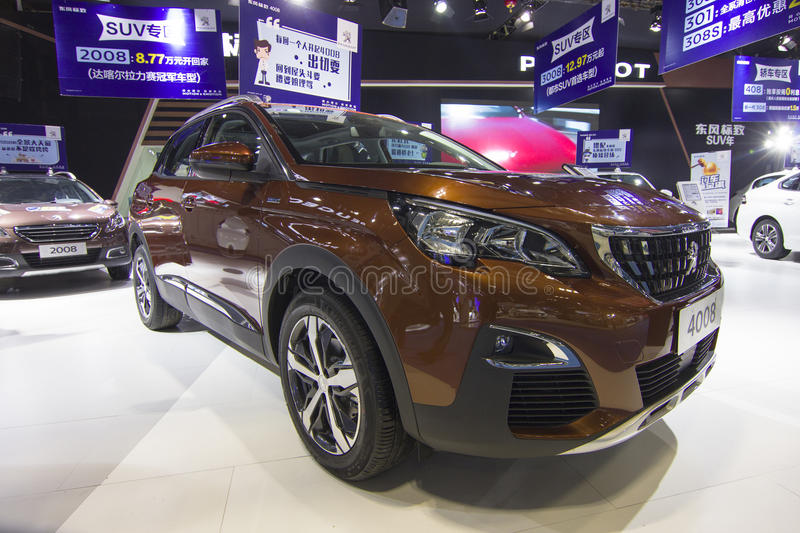 Auto show — Peugeot(4008). The 2017 Chongqing lnternational Auto Consumption Exhibition,Peugeot(4008). Photo taken April 10, 2017 stock image
